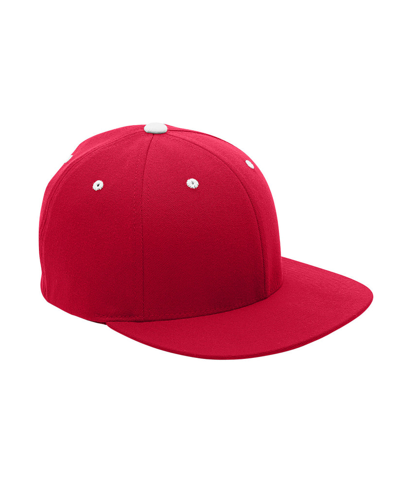Sport Red and White, Flexfit, Pro-Formance®, Contrast Eyelets, Fitted Cap