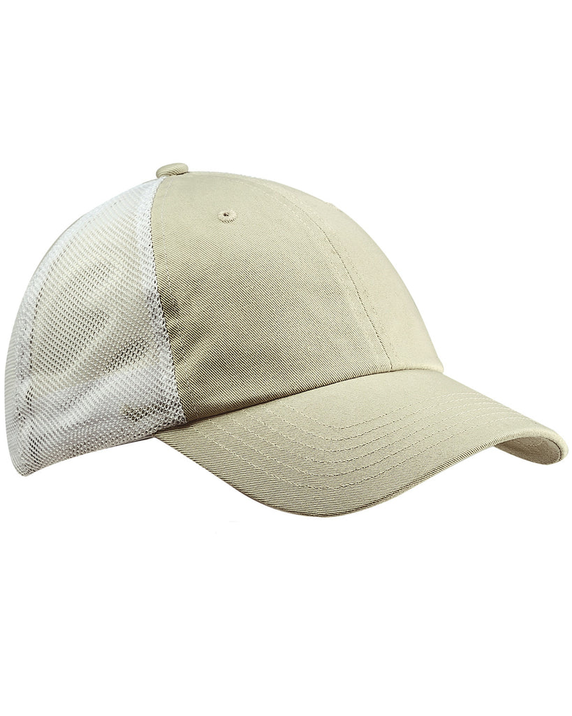 Stone on White, Washed, Trucker, Snap Back, Hat