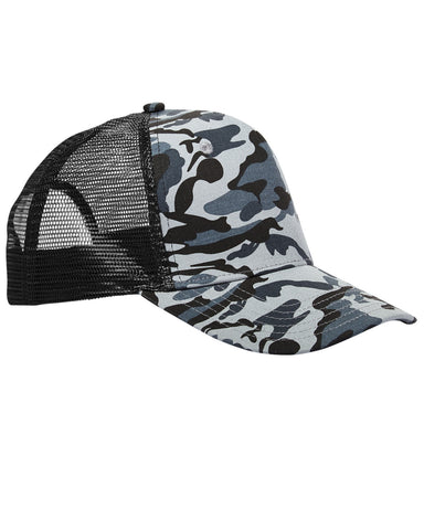 Urban Camo on Black, Surfer, Trucker, Snap Back, Cap