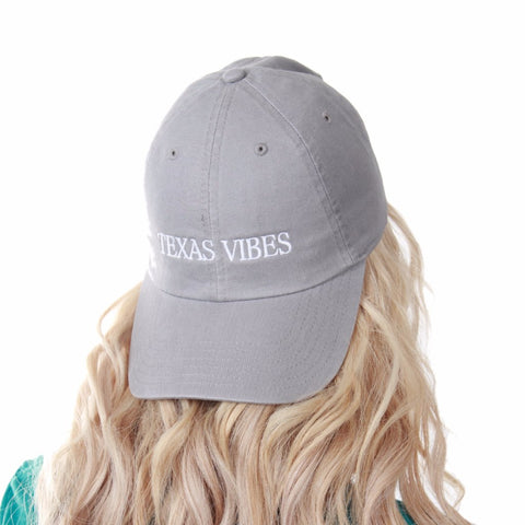 GREY TEXAS VIBES DAD HAT