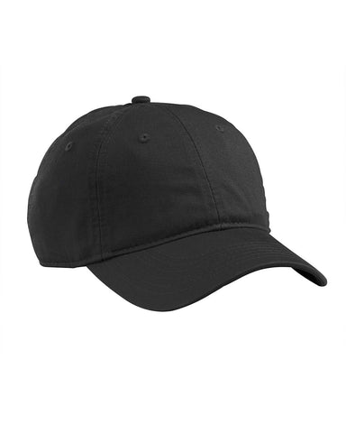 Black, Organic, Cotton Twill, Unstructured, Baseball Hat