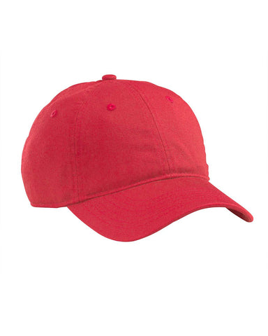 Red, Organic, Cotton Twill, Unstructured, Baseball Hat