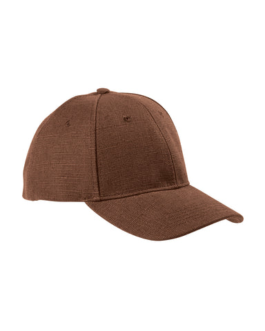 Earth Brown, Hemp, 6 Panel, Snap Back, Baseball Cap