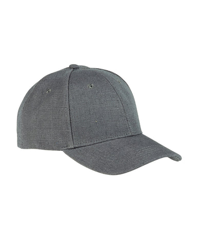 Charcoal, Hemp, 6 Panel, Snap Back, Baseball Cap