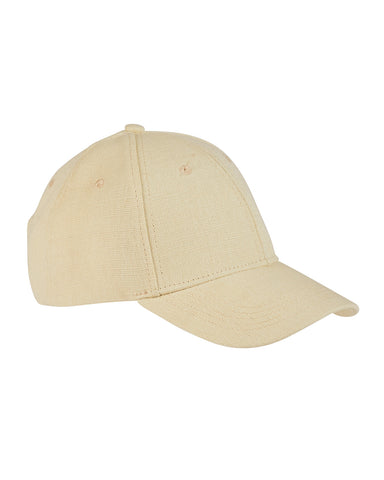 Natural, Hemp, 6 Panel, Snap Back, Baseball Cap