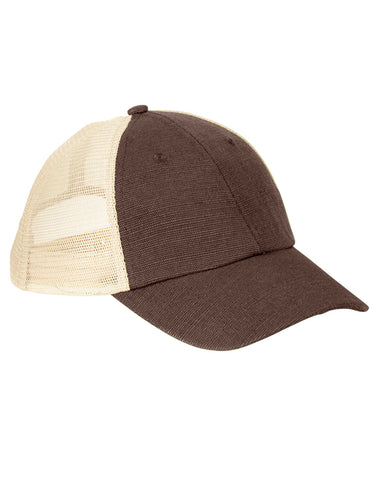 Earth Brown on Oyster, Eco Trucker, Organic, Recycled, Hat