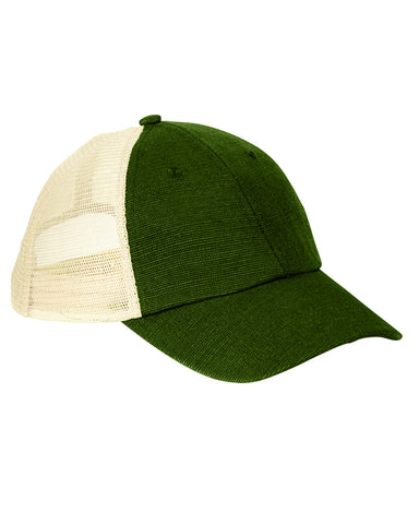 Olive on Oyster, Hemp, Washed, Soft Mesh, Trucker, Snap Back