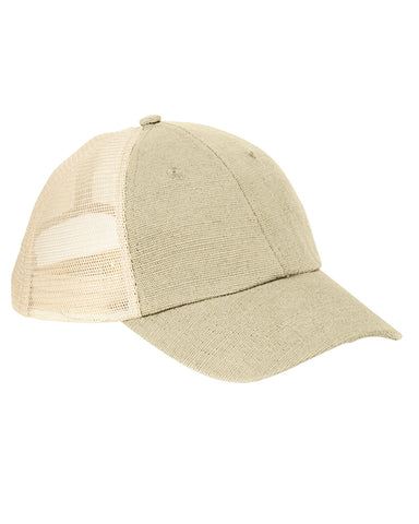 Natural on Oyster, Hemp, Washed, Soft Mesh, Trucker, Snap Back