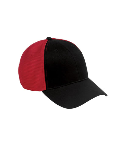 Black on Red, Old School, Baseball Hat