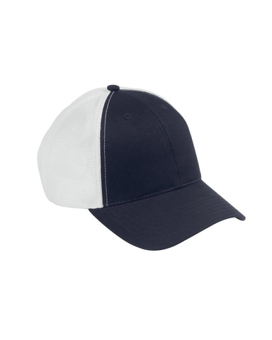 Navy on White, Old School, Baseball Hat