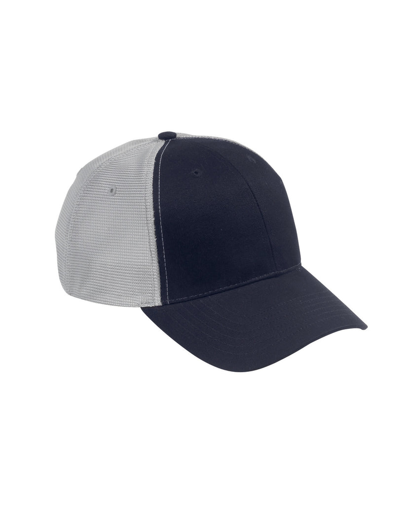 Navy on Grey, Old School, Baseball Hat