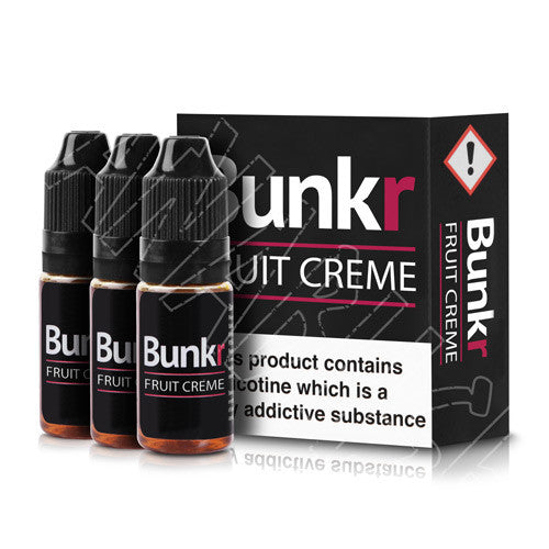 Fruit Creme Flavoured E-liquid from Manabush and Bunkr 3 x 10ml