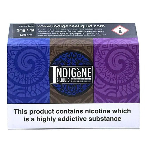 Indigene Eliquid Sample pack side 2