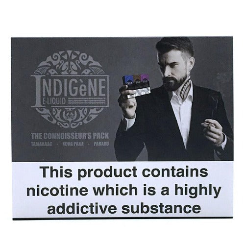 Indigene Eliquid sample pack side 1