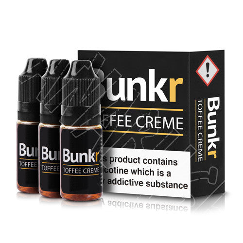 Toffee Creme Flavoured E-liquid from Manabush and Bunkr 3 x 10ml
