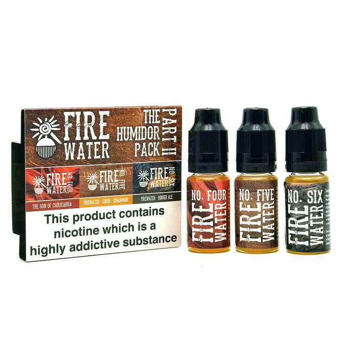 The Firewater Humidor Part II pack - all three new flavours in one pack