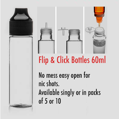 Eliquid Flip and Click Bottle