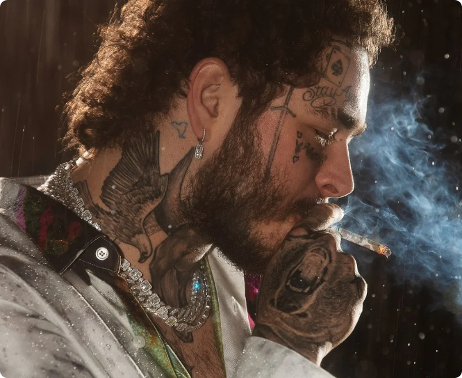 Post Malone's Insane Jewelry Collection
