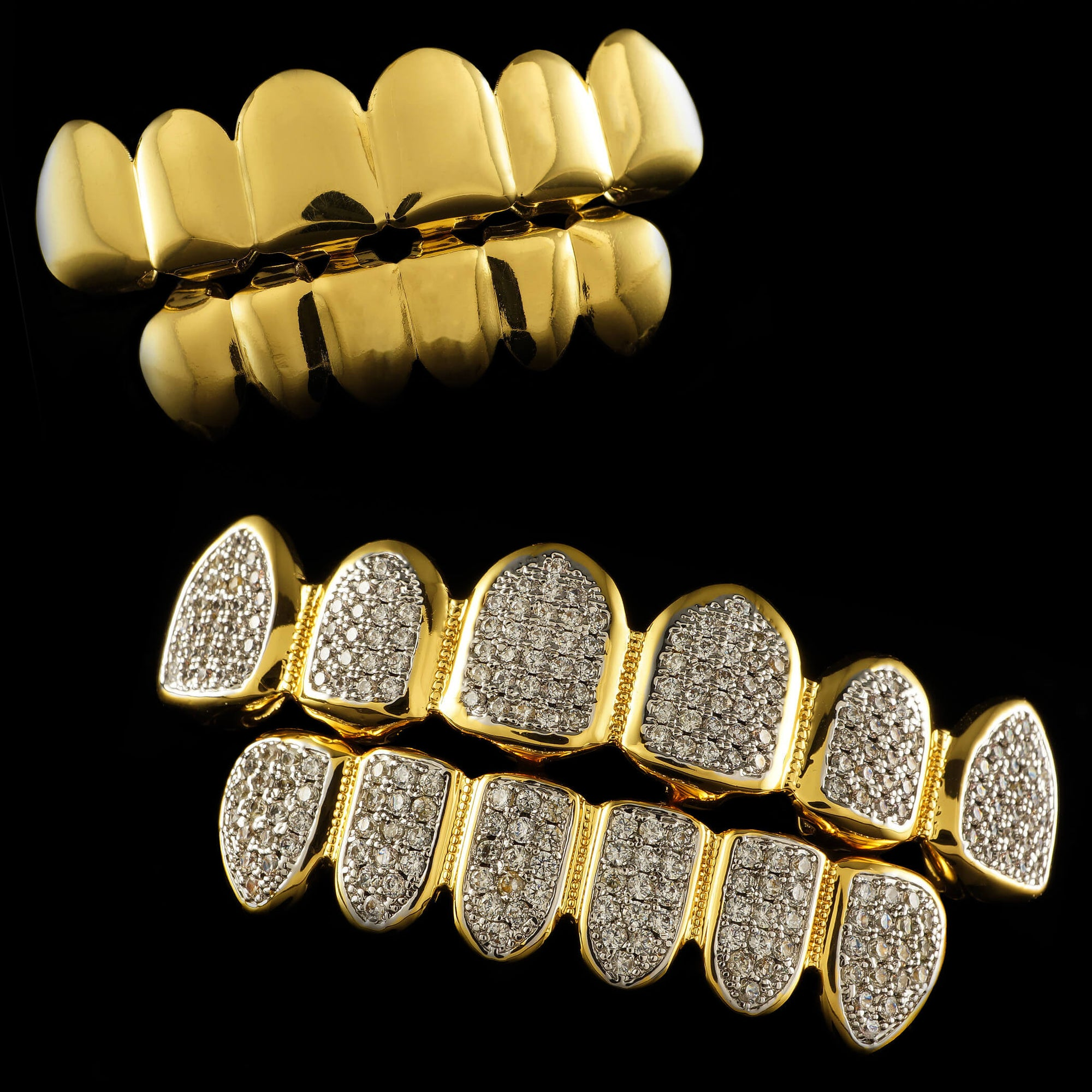18k Stainless Steel Grillz vs 14k Gold Plated Grillz