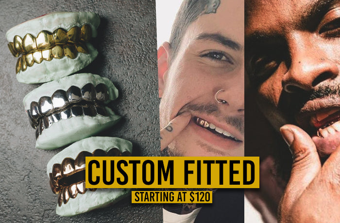 Custom Gold Grillz - Shop at the #1 Gold Teeth Jeweler TODAY!