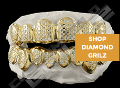 Our diamond grillz give you that real SHINE at a fraction of the price! Check us out!