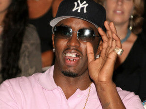 Diddy wearing grillz
