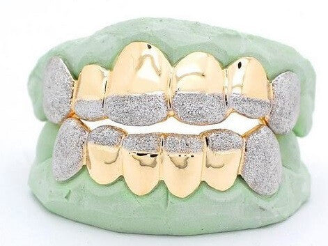 Custom 12 Tooth Iced out Gold Grill
