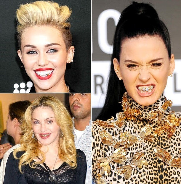 Miley Cyrus, Katy Perry, Madona celebrity grillz