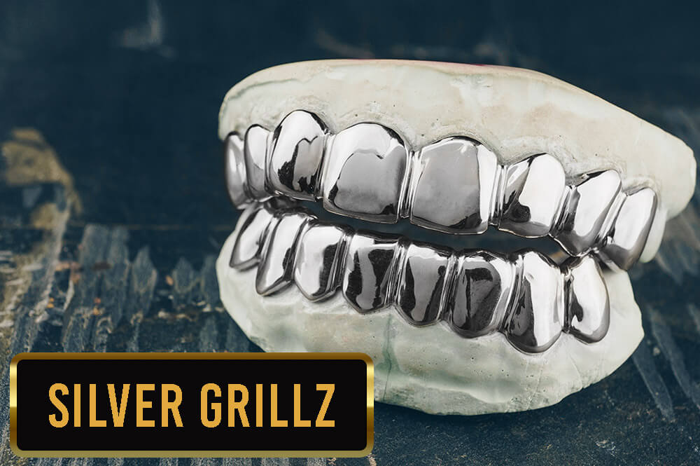 Silver Grillz from Custom Gold Grillz