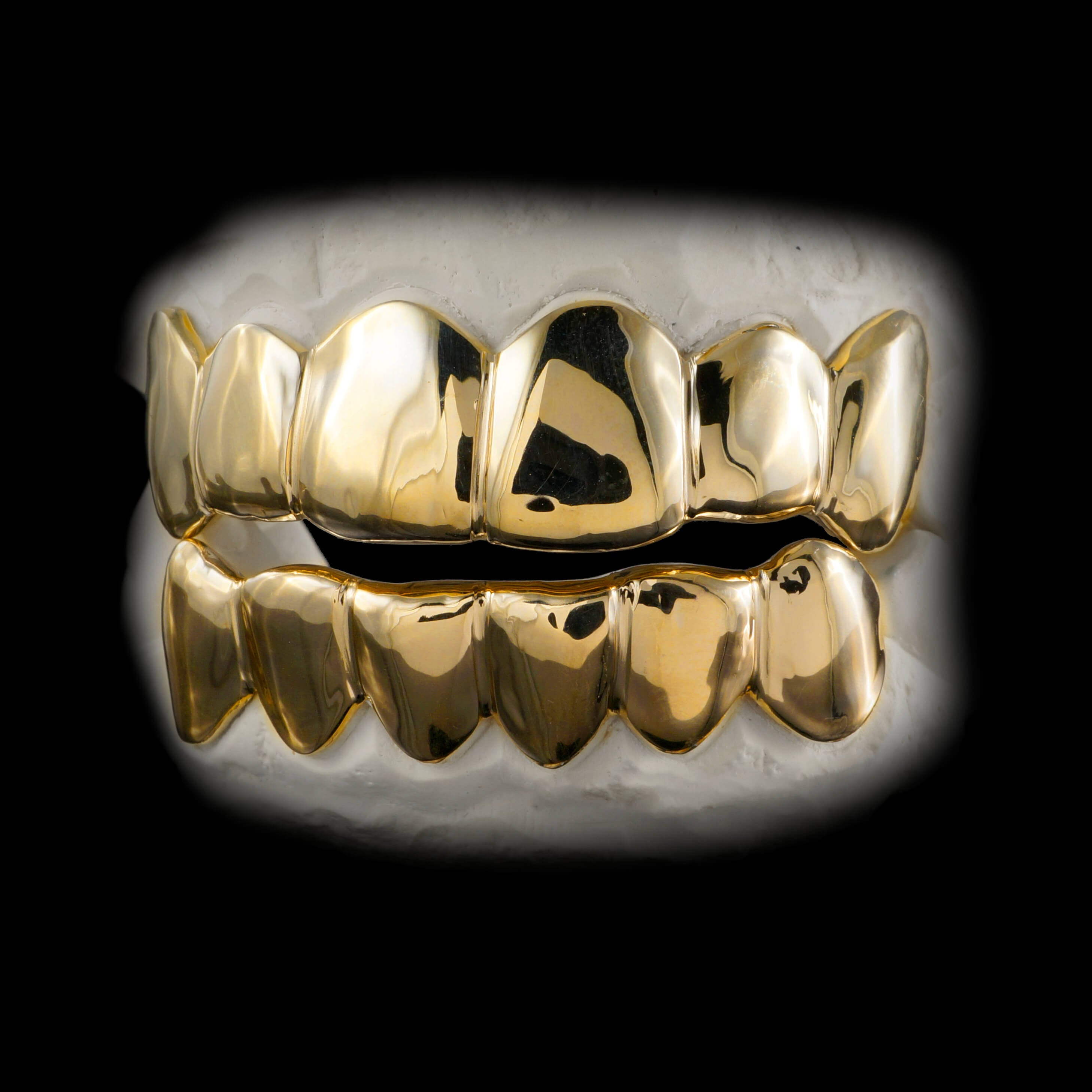 6 Tooth Top and 6 Tooth Bottom Grillz Set