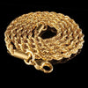 Rope Chain in Yellow Gold