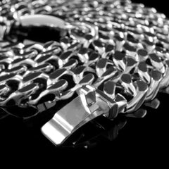 14mm Cuban Miami Chain Link in White Gold
