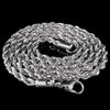 Rope Chain in White Gold
