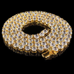 5MM Diamond Chain in Yellow Gold