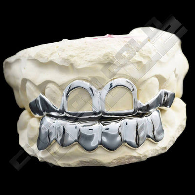 Solid Sterling Silver Teeth Joker Custom-Made Grillz Main