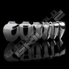 Be a trend setter with our Silver Joker Grill Fake Costume Teeth Bottom! Shop now before we sell out!