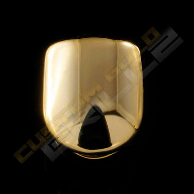 Gold Plated Single Top Tooth Grill Instantly-Made Main