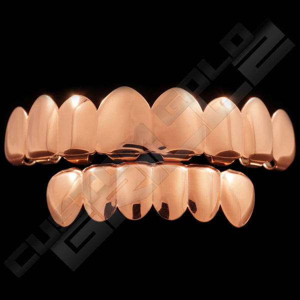 Rose Gold Plated 8 Tooth Premium Grillz Instantly-Made Main