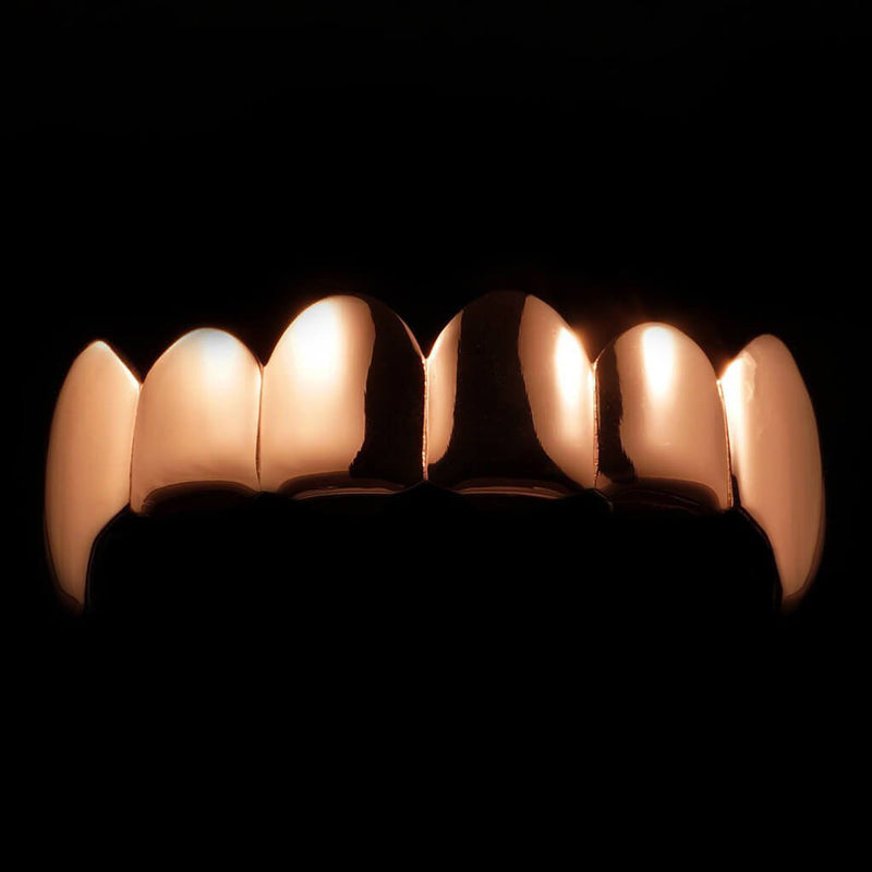 Rose Gold Plated Vampire Fang Grillz Instantly-Made Main