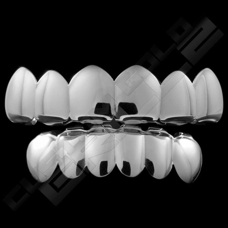 [PRE-MADE] Silver Plated 6 Tooth Premium Grillz