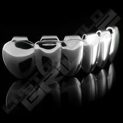 Silver Plated 8 Tooth Premium Grillz Instantly-Made Bottom Side View