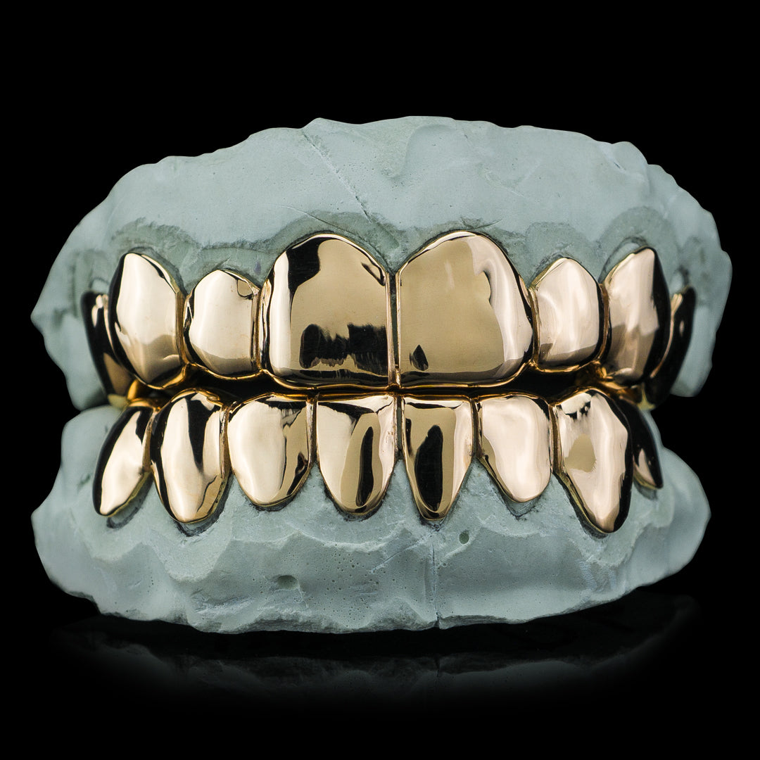 Solid Gold Deep Cut Custom-Made Grillz Main