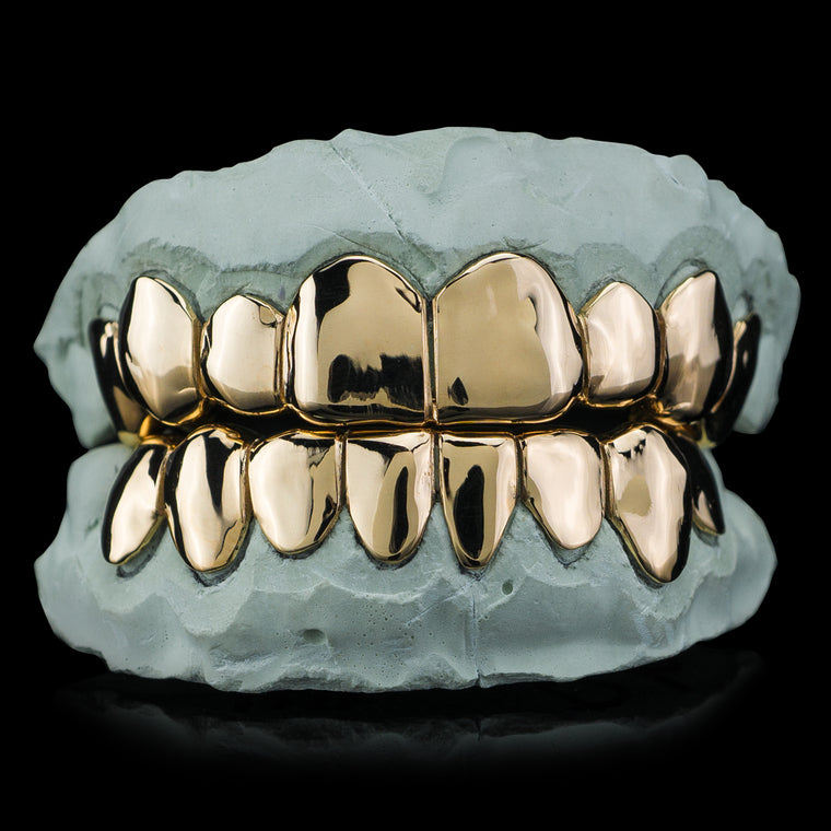 [CUSTOM-FIT] Solid Gold Deep Cut Grillz