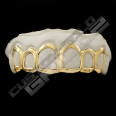 Solid Gold Open Face Custom-Made Grillz Top