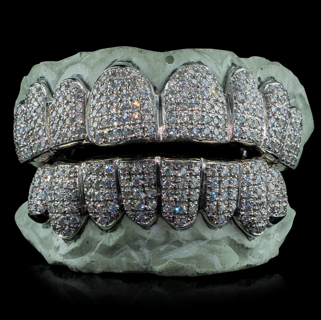 [CUSTOM-FIT] Fully Bustdown Iced Grillz (Straight Setting)