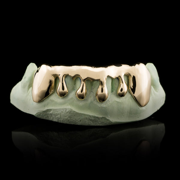 Solid Gold Drip Custom-Made Grillz Main