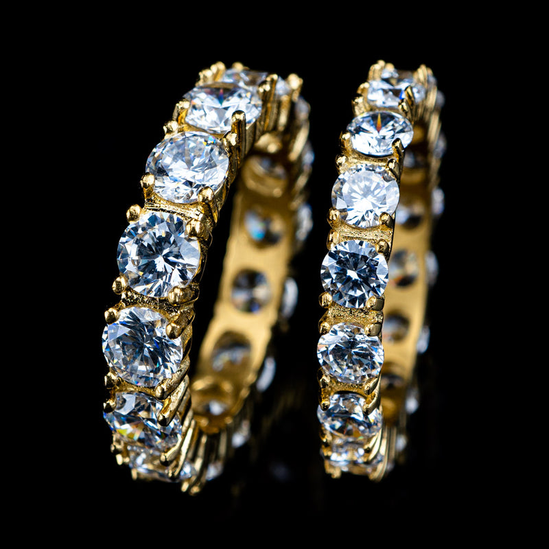 Diamond Eternity Promise Ring in Yellow Gold