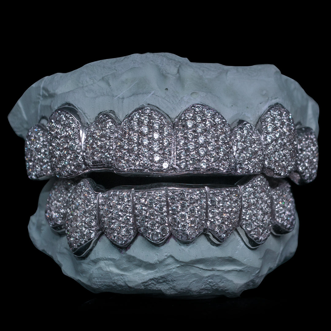 [CUSTOM-FIT] Fully Bustdown Iced Grillz (Zig Zag Setting)