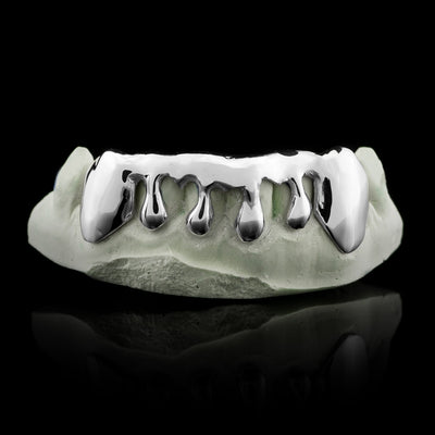 Solid Sterling Silver Custom-Made Drip Grillz Main