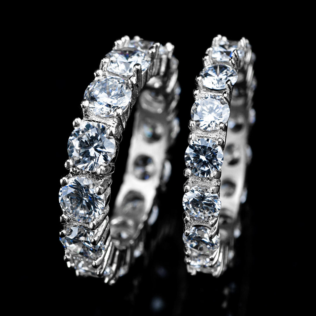 Diamond Eternity Promise Ring in White Gold